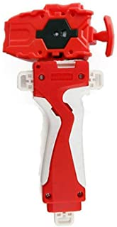 QiJzz B-108 Red Launcher and Grip, Battling Top Starter Burst String Beylauncher,Right Spin Top Toys Accessories