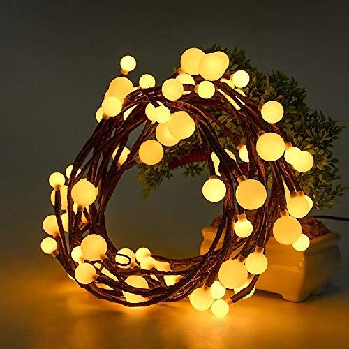 GlobaLink Led globe Lichterkette, 2,5M 72 Leds Kugel Lichterkette 8 Modi mit EU Stecker Memory-Funktion IP44 Beleuchtung für Weihnachten Hochzeit Haus Schlafzimmer Party Geburtstag Innen und Außen