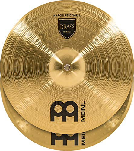 """Meinl 18"""" Marching Cymbal Pair with Straps - Brass Alloy Traditional Finish - Made In Germany, 2-YEAR WARRANTY (MA-BR-18M)"""