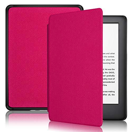 DAORANGE Hülle kompatibel für Kindle (10. Generation 2019 Release), Ultra Schlank Lightweight PU-Leder Schutzhülle mit Auto Sleep/Wake Funktion für der Neue Kindle 6 Zoll 2019 (Rosa)