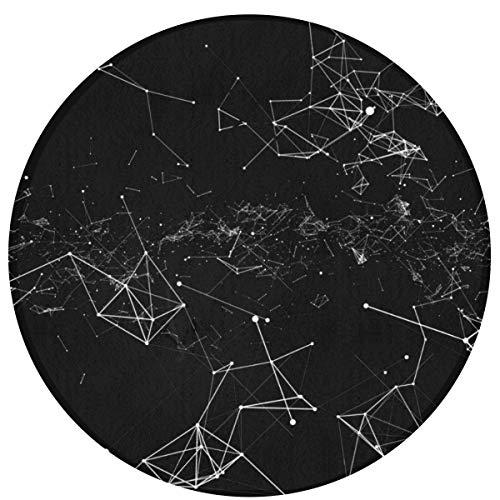 NA Rendering abstrakt triangel poäng mörk bekväm halkfri sittkudde cirkulär stol kuddar rund matta söt svängbar stol matta pall skydd dyna rund badmatta