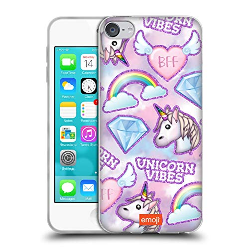 Head Case Designs Officially Licensed Emoji Unicorn BFF Sparkles and Pastels Soft Gel Case Compatible with Apple Touch 6th Gen / Touch 7th Gen