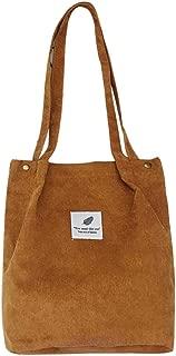 Everpert Women Totes Corduroy Handbag Shopping Bag Girls Shoulder Bags