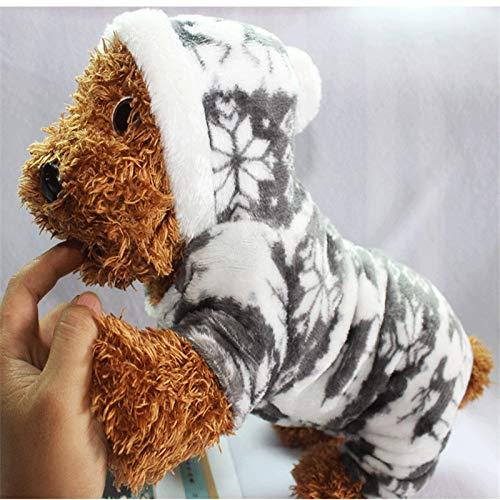 LIRUI De En Winter Sneeuwvlok Zachte Fleece Hond Kleding Huisdier Hond Jurk Patroon Koraal Fluweel Herten Kerst Puppy Jas Vier Ha