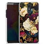 DeinDesign Hard Hülle kompatibel mit LG Q7 Plus Schutzhülle transparent Smartphone Backcover Vintage Blumen Muster