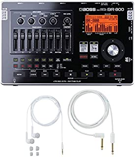 Boss BR-800 Digital Recorder with Free BA-PC15 Earphones/Guitar Cable Set