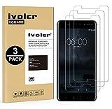 ivoler [3 Stücke] Panzerglas Schutzfolie für Nokia 6 2017, 9H Festigkeit, Anti- Kratzer, Bläschenfrei, [2.5D R&e Kante]