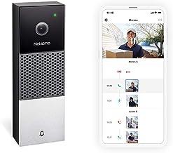 Netatmo Timbre con Vídeo Inteligente, HD 1080p, Comunicación Bidireccional, Detección de Personas, Sin Costo Adicional, Vi...