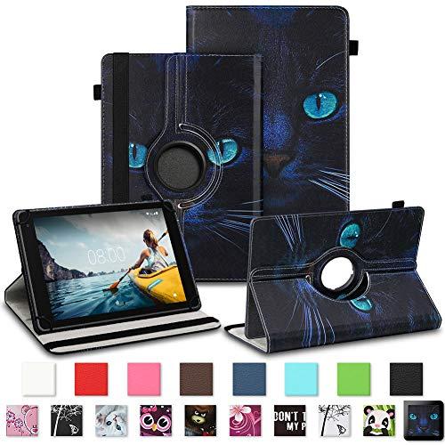 NAUC Medion Lifetab P7331 P7332 E7331 Tablet Schutzhülle Tasche Standfunktion 360° Drehbar Robust Universal Farb und Motiv Auswahl, Farben:Motiv 7