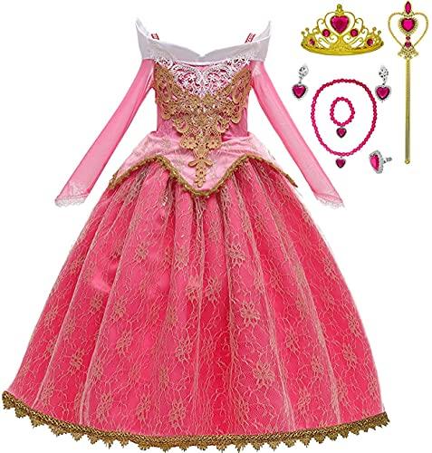 Romy's Collection Princess Toddler Girls Costume Dress Up Set (6-7, Pink)