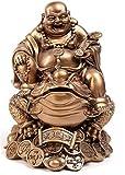 Cabin Estatua De Arte Moderno-Meidu Buda Tortuga Y Estatua De Buda Escultura De Resina, Muebles para El Hogar Feng Shui Toad Laughing Buddha
