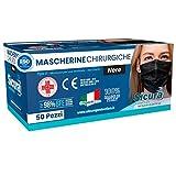 Immagine 1 50 mascherine chirurgiche nere per