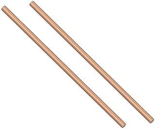 SHULI 6 Piezas de Hoja de Cobre Puro CU Placa de Metal T2 Placa de Barra Plana de Cobre Longitud 100 mm Espesor 1 mm Ancho,20mm 3,9 Pulgadas