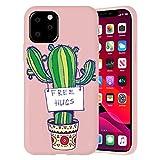 ZhuoFan Funda para iPhone 12 / iPhone 12 Pro 6.1'', Carcasa de Polvo Silicona Case Protección de Cuerpo Completo Suave TPU Protectora Antichoque Bumper Cover para & Movil Fundas - Cactus