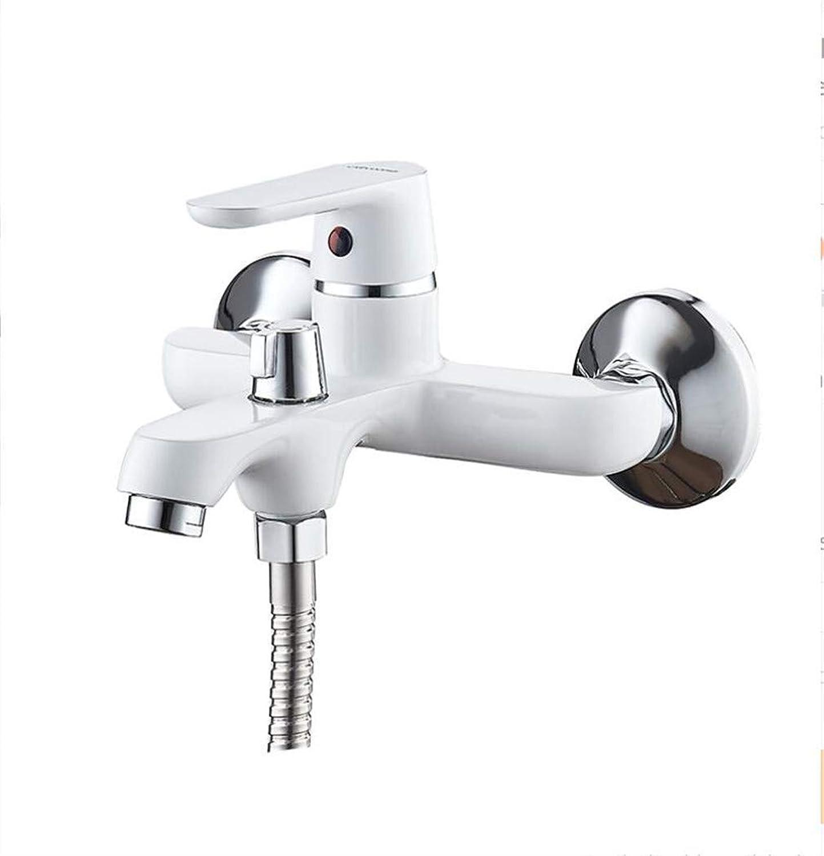 GGwasai Faucets-Farbeful Badewannen-Faucet Duschset Lackierung Badezimmer-Faucets Brass Bath Faucet Waterfall Classic Badezimmer-Faucet A6366
