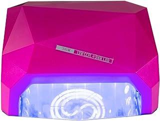 MCTECH® Lámpara UV de uñas profesional de uñas 36W Secadores de uñas de secado para Goma laca (esmalte de uñas y gel con Auto 30S Sensor + 3 ajustes de tiempo, Rosa)