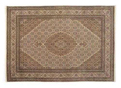 PARISA MAHI un tapis noué main d`orient classique laine beige Taille: 170x240 cm