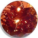 OptimaGem Lab Sapphire Orange Round 3mm-10mm Loose Gemstones (7mm)