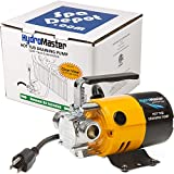 HydroMaster Hot Tub Spa Draining Pump with 10ft Clearview Suction Hose - 120V Electric Water Transfer Utility Pump