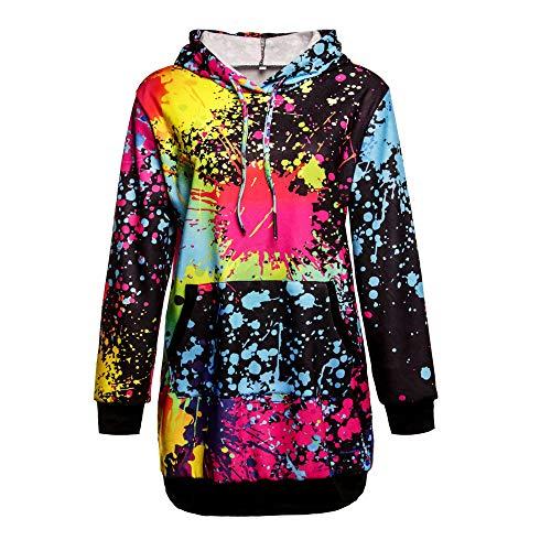 NPRADLA 2018 Pullover Damen Elegant Locker Lang Mode Frauen Sweatshirt Kapuzen Mantel Bluse Tops...