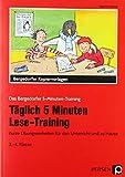 Täglich 5 Minuten Lese-Training - 3./4. Klasse: Kurze Übungseinheiten für den Unterricht und zu Hause (Das Bergedorfer 5-Minuten-Training)