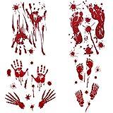 LIOOBO 4pcs Selbstklebende Terror Tür Pasten Blut Kürbis