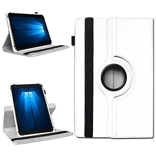 NAmobile Tablet 360° Drehbar Hülle für Odys Wintab Ares 9 Tasche Schutzhülle Hülle Cover, Farben:Weiss