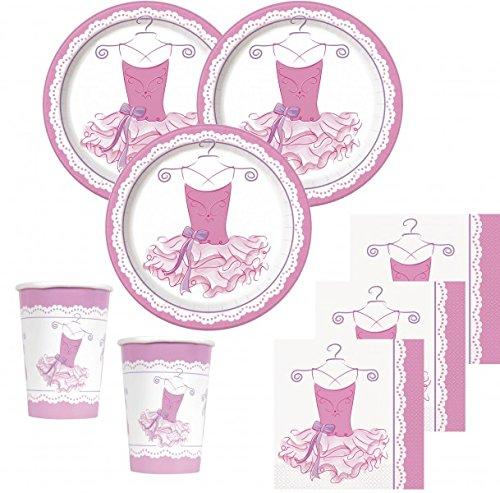 48 Teile Prima Ballerina Party Deko Set für bis zu 16 Kinder