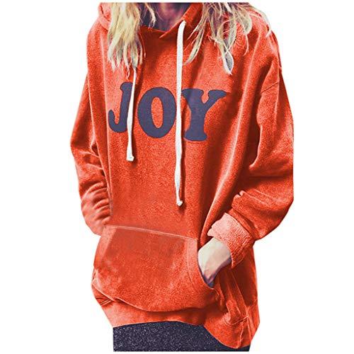 Auifor vrouwen casual losse brief prints tuniek top lange trui hoodie sweatshirt