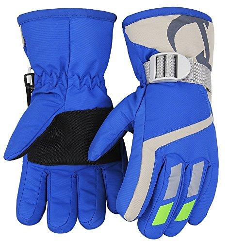 7-Mi Kids Winter Warm Water-Resistant Handschuhe für Skifahren/Snowboarden/Radfahren/Reiten Outdoor-Aktivitäten Kinder Fäustlinge Am besten für 4 to 6 Jahre alt Red