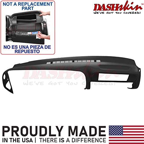 DashSkin Molded Dash Cover Compatible with 97-00 GM SUVs and Pickups in Black (USA Made)