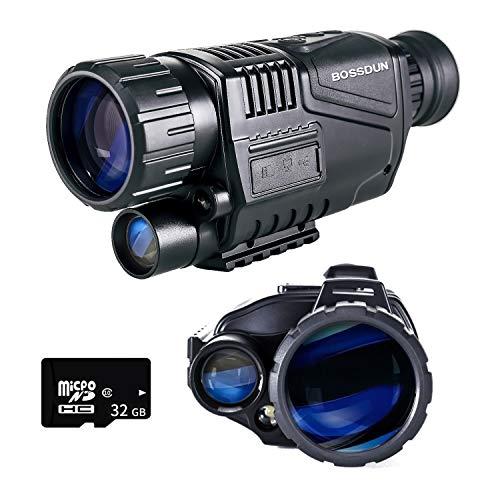 Visione Notturna Monoculare, 5 x 35 Ambiti di Visione Notturna Digitale HD con Funzione Ricaricabile/Scattare Foto/Registrazione Video/Riproduzione per Esterno/Caccia/Escursionismo
