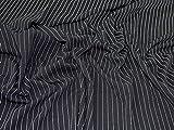 Minerva Crafts Jersey-Stoff, gestreift, Schwarz/Weiß,