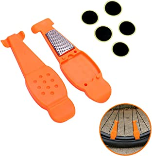 HOMEE Bike Tire Repair Kit,Portable Bycicle Tire Patch Kit for Mountain Road Bike Nylon Bike Tire levers Universal Cycling Repair Accessories Tools