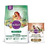 Halo Vegan Dry Dog Food, Garden of Vegan Recipe, 10-Pound Bag Plus Vegan Natural Dog Treats