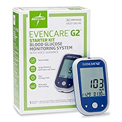cheap The Medline EvenCare G2 Starter Kit for glycemic monitoring systems includes a glycemic monitoring device, battery, and….