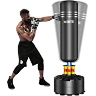 Dripex Adult & Kids Freestanding Punching Bag Heavy Boxing Bag with Suction Cup Base - Free Stand...