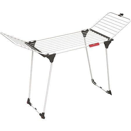 Vileda séchoir King - séchoir table aluminium / acier - 20m de capacité de séchage + 2 roulettes - ref 157247