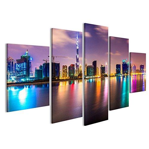islandburner Bild auf Leinwand Dubai Skyline in der Dämmerung, UAE. Wandbild, Poster, Leinwandbild FTN