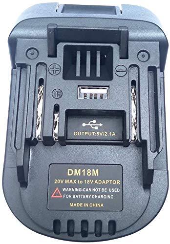 XLDZ Battery Adapter for Makita 18V Lithium-ion Power Tools,Convert Milwaukee 18V or Dewalt 20V Lithium-ion Battery to Makita 18V Lithium-ion Battery