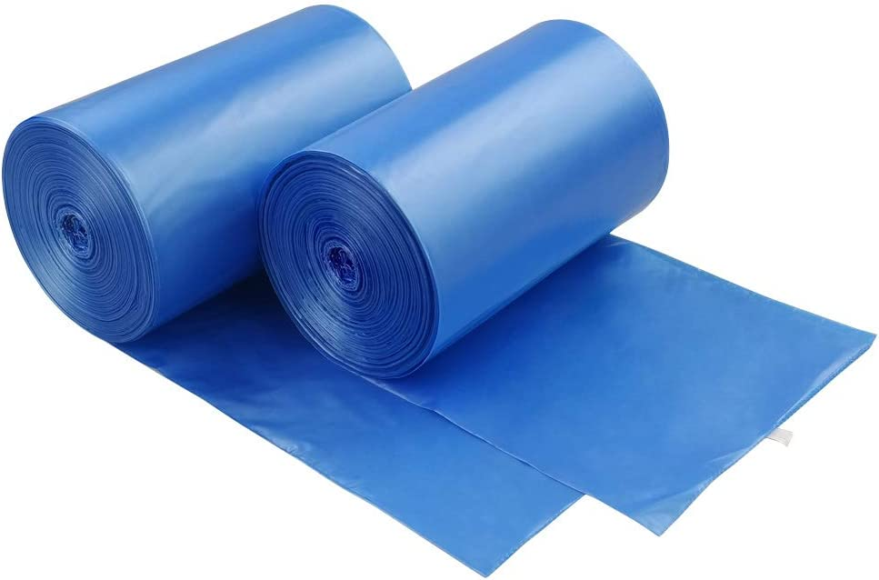 Hommp 5 Gallon Trash Bags, 220 Counts Blue Garbage Bag, F