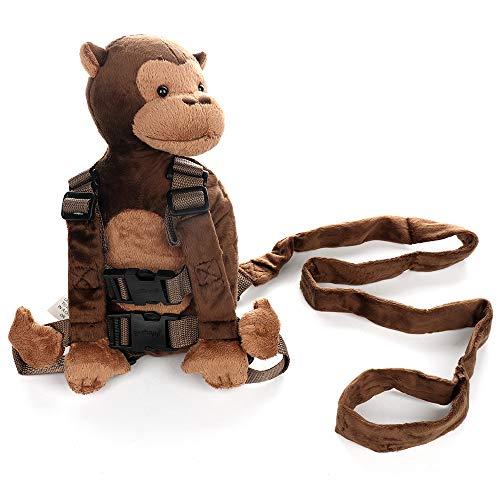 LouisaYork Baby-Rucksack, Cartoon-Tier-Rucksack, Affe, Sicherheits-Geschirr mit Leine, für 1 – 3 Jahre alte Babys, Kinder