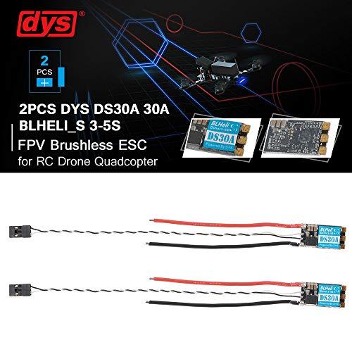 Mobiliarbus RC ESC 2 STÜCKE DYS DS30A 30A BLHeli_S 3-5S ESC Unterstützt Dshot600 Dshot300 Dshot150 für High KV Motoren RC Racing Drone Multicopter