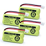 QBLPOWER BT18433 BT28433 BT-8300 BATT-6010 Rechargeable Battery Compatible with AT&T Vtech Phones BT184342 BT284342 BT1011 BT1018 BT1022 BT1031 89-1326-00-00/89-1330-01-00/CPH-515D 2.4V(Pack of 4)