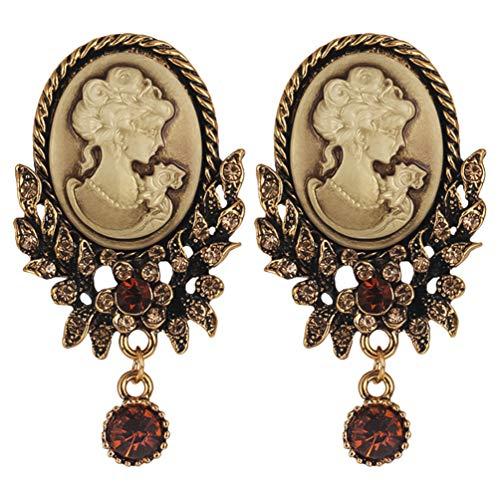 KESYOO 2 Stück Vintage Brosche Viktorianischen Cameo Pins Strass Brosche Pins Retro Brosche Pins für Frauen Mädchen Damen