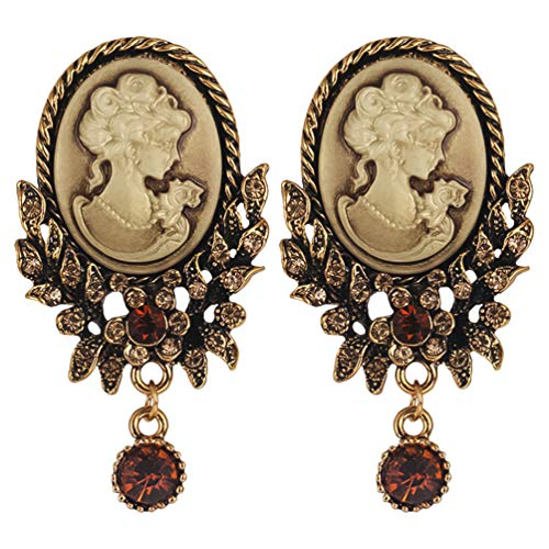 KESYOO 2 Pcs Vintage Brooch Victorian Cameo Pins Rhinestone Brooch Pins Retro Brooch Pins for Women Girls Ladies