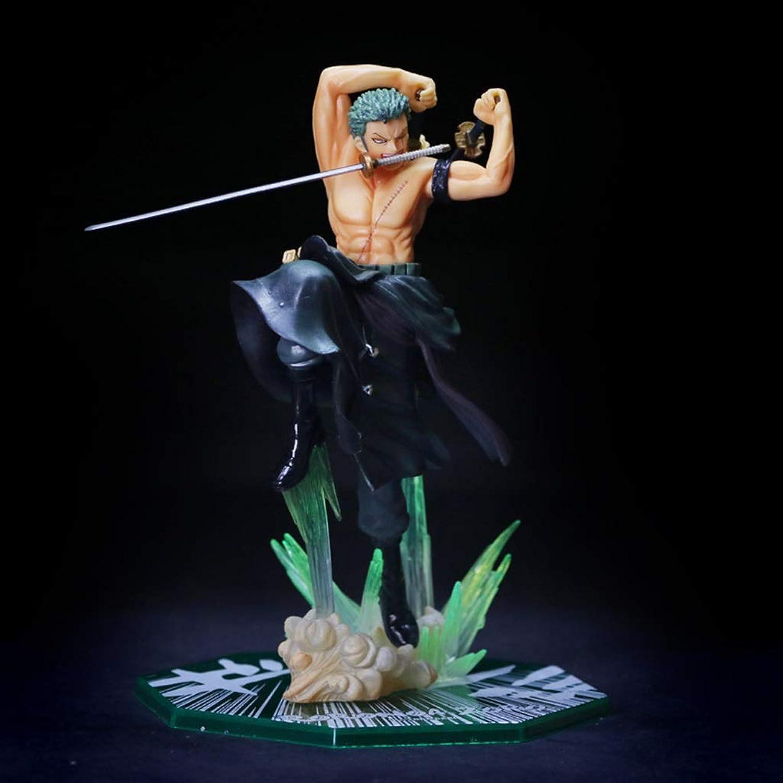 AmityL One Piece Anime Statue Roronoa Zoro giocattolo modello PVC Exquisite Anime Decorazione Regalo di Compleanno da Collezione - Altezza  7.9in Statua del Giocattolo