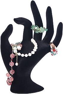 Coward Black Velvet Hand Form Jewelry Display Bracelet Ring Stand Holder (Velvet)