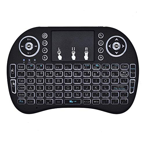Mini Keyboard i8 2.4G Air Mouse Wireless Keyboard with Touchpad, Rechargeable Handheld Keyboard Remote for Smart TV, Android TV Box, KODI, Raspberry Pi, PC