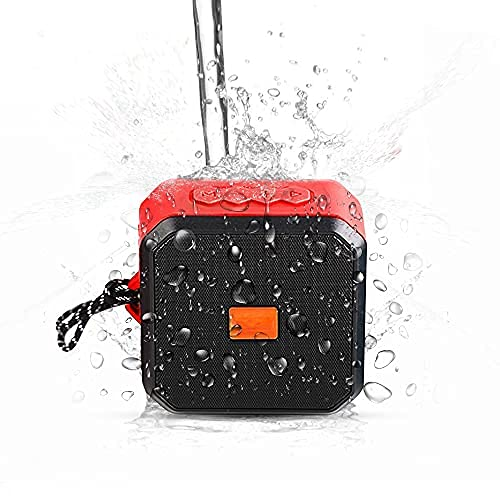 -Tek Styz IPX7 Speaker Works for Sonim XP3405 Shield with 13H Waterproof Playtime, Indoor, Outdoor Travel 1500mAh (RED)